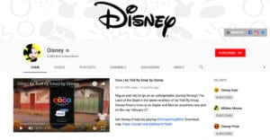 disney youtube channel