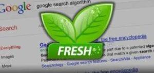 google freshness algo
